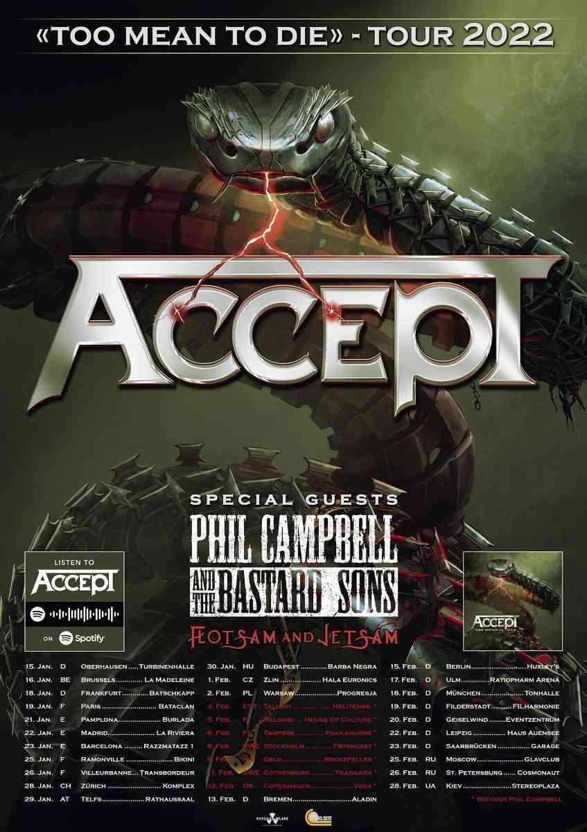 accept - 2022 - tour flyer