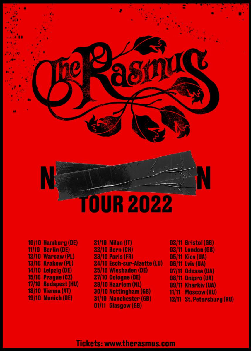 the rasmus - tour flyer 2022