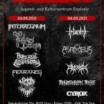 DEATH RITUAL: IRDORATH, ASMODEUS, EREBOS, MISANTHROPIC MIGHT, CYROX 04. 09. 21, Explosiv Graz
