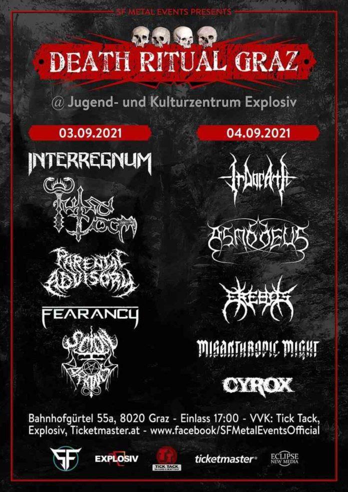 death ritual 2021 - concertflyer